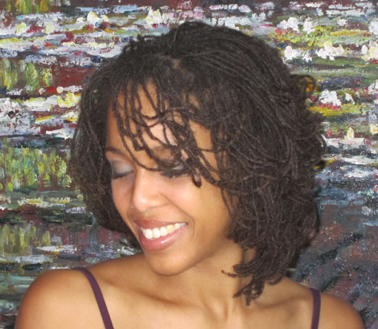 Hair Style Blog : ... Blog ? Blog Archive ? Day 23: A Roller Set Hair Style On Micro Locs