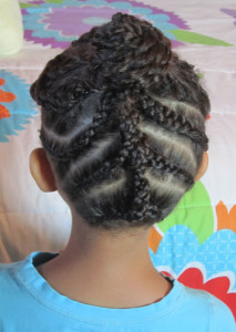 natural hair updo for kids